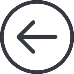 arrow-simple line, left, circle, arrow, direction, arrow-simple free icon 256x256 256x256px