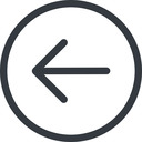 arrow-simple line, left, circle, arrow, direction, arrow-simple free icon 128x128 128x128px