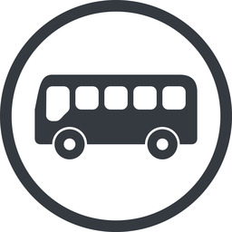 bus-side line, normal, wide, circle, horizontal, mirror, car, vehicle, transport, bus, side, bus-side free icon 256x256 256x256px
