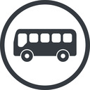 bus-side line, normal, wide, circle, horizontal, mirror, car, vehicle, transport, bus, side, bus-side free icon 128x128 128x128px