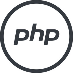 php line, normal, circle, logo, brand, php, hypertext, preprocessor free icon 256x256 256x256px