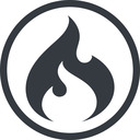 codeigniter line, normal, circle, logo, brand, icon, codeigniter, igniter, code, php, framework, flame, fire free icon 128x128 128x128px