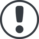 exclamation-mark-rounded line, normal, circle, mark, warning, exclamation, rounded, info, exclamation-mark-rounded, alert free icon 128x128 128x128px