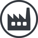 factory-window line, normal, circle, factory, industry, window, factory-window free icon 128x128 128x128px