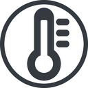 thermometer-high-solid line, normal, solid, circle, temperature, thermometer, heat, high, hot, thermometer-high, thermometer-high-solid free icon 128x128 128x128px