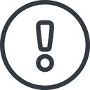 warning line, normal, circle, mark, warning, exclamation, alert free icon 128x128 128x128px