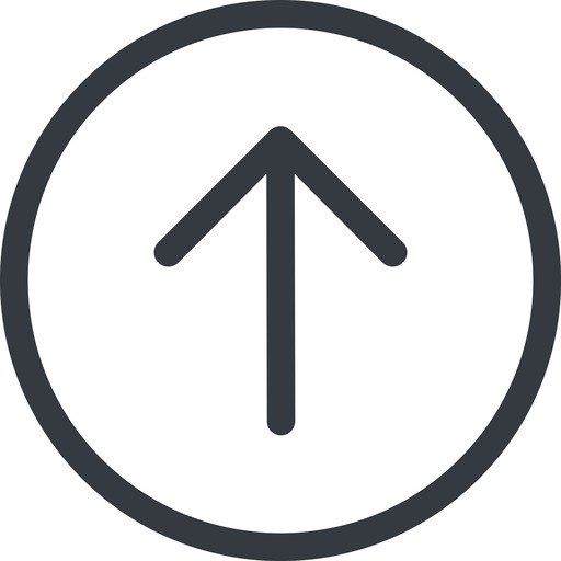 arrow-simple line, up, circle, arrow, direction, arrow-simple free icon 512x512 512x512px