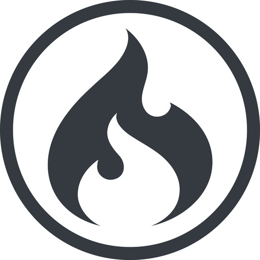 codeigniter line, normal, circle, logo, brand, icon, codeigniter, igniter, code, php, framework, flame, fire free icon 512x512 512x512px