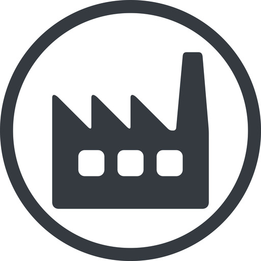factory-window line, normal, circle, factory, industry, window, factory-window free icon 512x512 512x512px