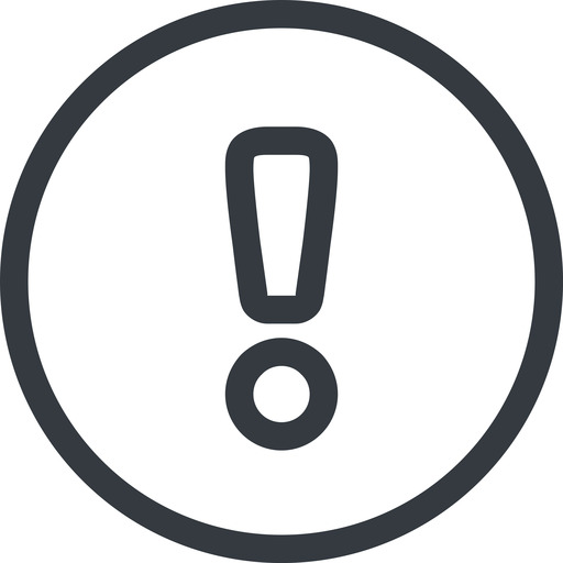 warning line, normal, circle, mark, warning, exclamation, alert free icon 512x512 512x512px