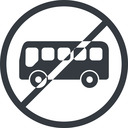bus-side line, normal, wide, circle, horizontal, mirror, car, vehicle, transport, prohibited, bus, side, bus-side free icon 128x128 128x128px