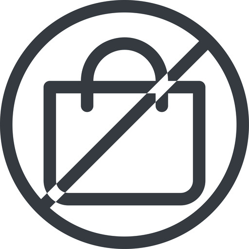 shopping-bag line, normal, circle, horizontal, mirror, prohibited, shopping, cart, market, handbag, bag, bags, shopping-bag free icon 512x512 512x512px