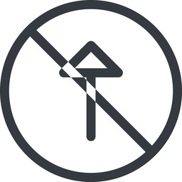 arrow line, up, normal, circle, arrow, prohibited free icon 256x256 256x256px