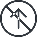 arrow-simple line, up, circle, arrow, direction, prohibited, arrow-simple free icon 128x128 128x128px
