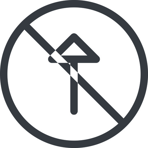 arrow line, up, normal, circle, arrow, prohibited free icon 512x512 512x512px