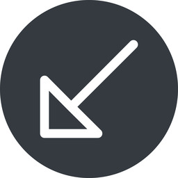 arrow-corner down, solid, circle, arrow, link, url, href, corner, arrow-corner free icon 256x256 256x256px