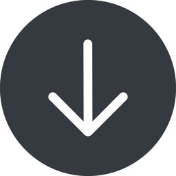 arrow-simple down, solid, circle, arrow, direction, arrow-simple free icon 256x256 256x256px