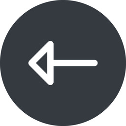 arrow left, normal, solid, circle, arrow free icon 256x256 256x256px