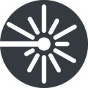 laser right, normal, solid, circle, laser, light, cutting, engrave free icon 128x128 128x128px