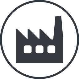 factory-window thin, line, circle, factory, industry, window, factory-window free icon 256x256 256x256px