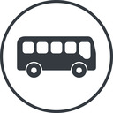 bus-side thin, line, wide, circle, car, vehicle, transport, bus, side, bus-side free icon 128x128 128x128px