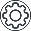 setting-thin thin, line, circle, setting, config, gear, wheel, settings, cog, setting-thin free icon 128x128 128x128px