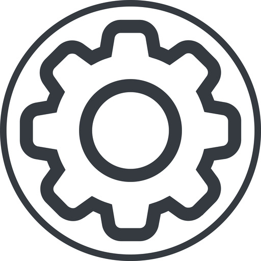 setting-thin thin, line, circle, setting, config, gear, wheel, settings, cog, setting-thin free icon 512x512 512x512px