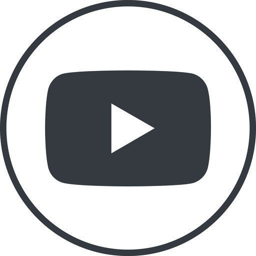 youtube thin, line, circle, logo, brand, social, youtube, video, channel, youtuber free icon 512x512 512x512px