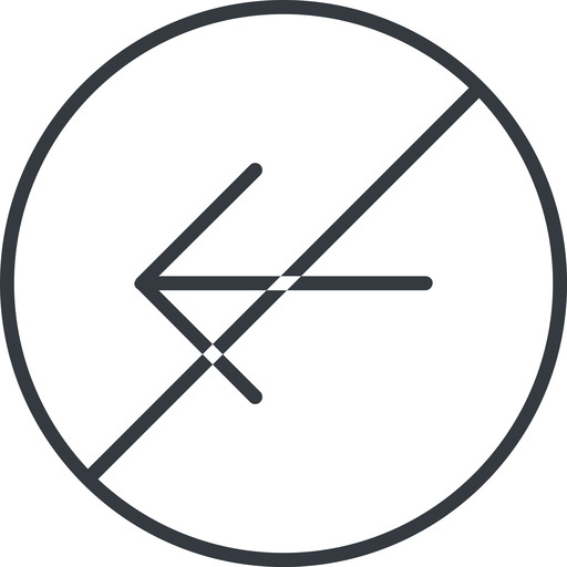 arrow-simple-thin thin, line, left, circle, arrow, direction, prohibited, arrow-simple-thin free icon 512x512 512x512px