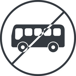 bus-side thin, line, wide, circle, horizontal, mirror, car, vehicle, transport, prohibited, bus, side, bus-side free icon 256x256 256x256px