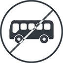 bus-side thin, line, wide, circle, horizontal, mirror, car, vehicle, transport, prohibited, bus, side, bus-side free icon 128x128 128x128px