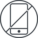 smartphone-thin thin, line, up, circle, horizontal, mirror, prohibited, iphone, phone, mobile, android, gsm, smartphone, cell, smartphone-thin free icon 128x128 128x128px