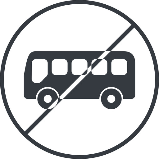bus-side thin, line, wide, circle, horizontal, mirror, car, vehicle, transport, prohibited, bus, side, bus-side free icon 512x512 512x512px