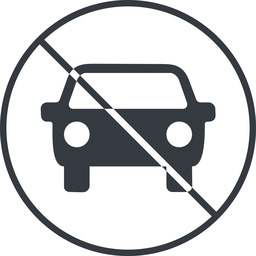 car-front-small thin, line, up, circle, car, front, vehicle, transport, prohibited, car-front-small free icon 256x256 256x256px