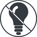 bulb-solid thin, line, up, circle, prohibited, light, bulb, brainstorming, creativity, idea, tip, lamp, bulb-solid free icon 128x128 128x128px