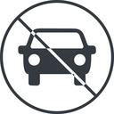 car-front-small thin, line, up, circle, car, front, vehicle, transport, prohibited, car-front-small free icon 128x128 128x128px