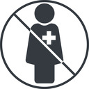 female-nurse-solid thin, line, circle, prohibited, nurse, medical, healthcare, health, female, medic, female-nurse, doctor, hospital, female-nurse-solid free icon 128x128 128x128px