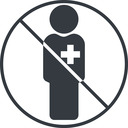 male-nurse-solid thin, line, circle, prohibited, nurse, medical, healthcare, health, male, medic, doctor, hospital, male-nurse, male-nurse-solid free icon 128x128 128x128px