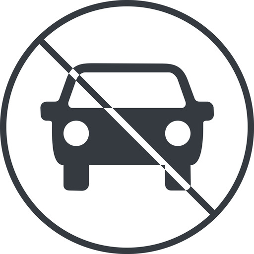 car-front-small thin, line, up, circle, car, front, vehicle, transport, prohibited, car-front-small free icon 512x512 512x512px