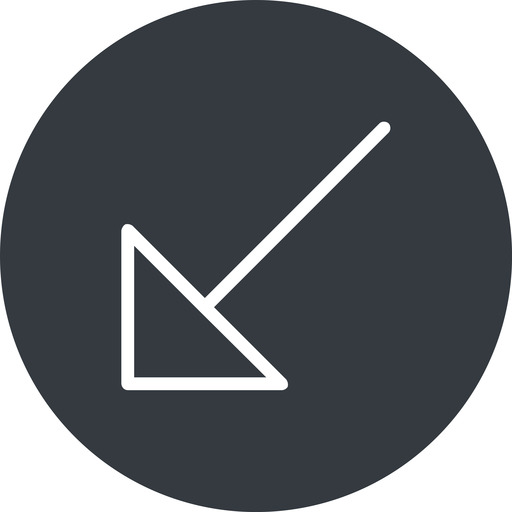 arrow-corner-thin thin, down, solid, circle, arrow, corner, arrow-corner-thin free icon 512x512 512x512px