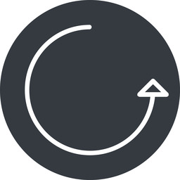 undo-thin thin, right, solid, circle, arrow, reload, refresh, undo, redo, undo-thin, restore free icon 256x256 256x256px