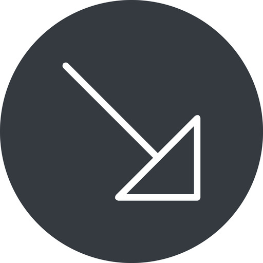 arrow-corner-thin thin, right, solid, circle, arrow, corner, arrow-corner-thin free icon 512x512 512x512px