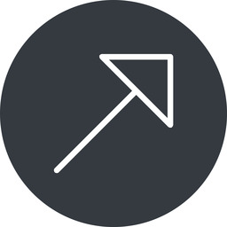arrow-corner-thin thin, up, solid, circle, arrow, corner, arrow-corner-thin free icon 256x256 256x256px