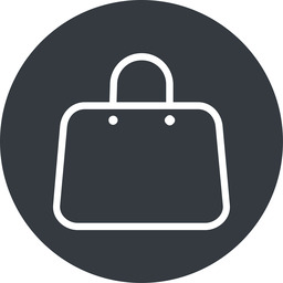 handbag-thin thin, solid, circle, shopping, cart, market, hand, handbag, bag, bags, handbag-thin free icon 256x256 256x256px