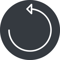 undo-thin thin, up, solid, circle, arrow, reload, refresh, undo, redo, undo-thin, restore free icon 256x256 256x256px