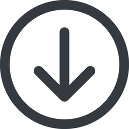 arrow-simple-wide line, down, circle, arrow, direction, arrow-simple-wide free icon 256x256 256x256px