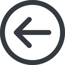 arrow-simple-wide line, left, circle, arrow, direction, arrow-simple-wide free icon 128x128 128x128px