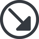 arrow-corner-solid line, right, wide, circle, arrow, corner, arrow-corner-solid free icon 128x128 128x128px