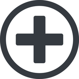plus-solid line, circle, plus, add, new, medical, plus-solid, create, addition, +, more, medic free icon 256x256 256x256px