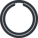 circle-notch-wide line, wide, circle, wait, load, loading, notch, waiting, circle-notch-wide free icon 128x128 128x128px